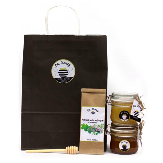 Подарочные наборы чая и меда